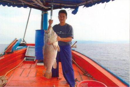 น้าโรจน์กับปลาเก๋าตัวน้อย