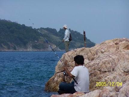 ไปตกหมึกเกาะค้างคาวมา