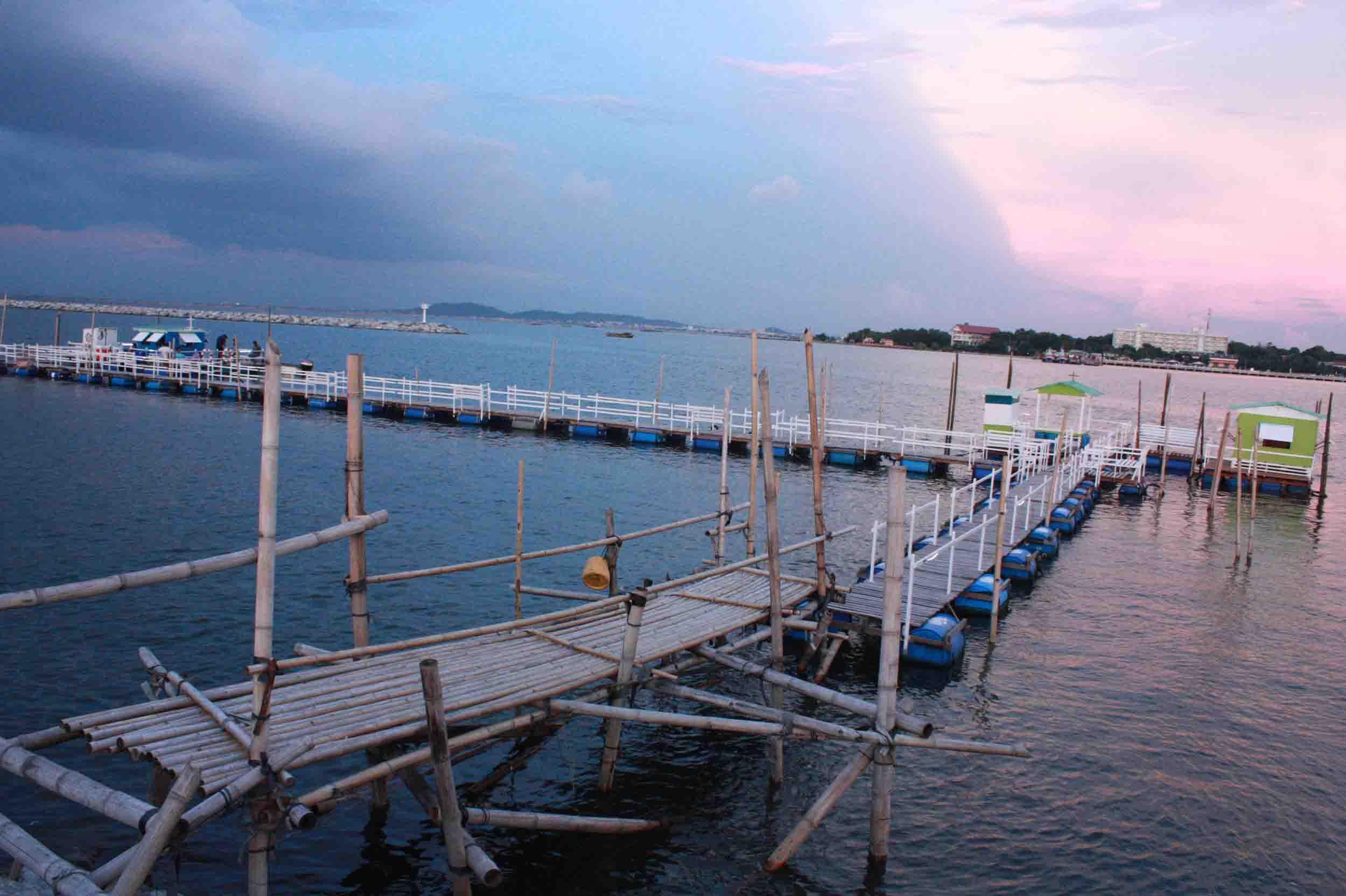 แพตกปลากลางทะเลอ่างศิลา ชลบุรี