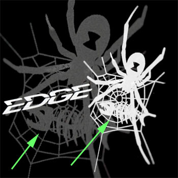 Edgerods by Gary loomis และโลโก้ที่แอบเสียดสีเล็กๆ