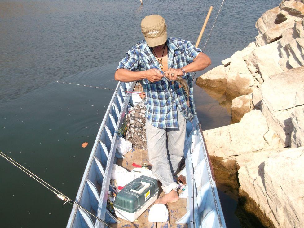 ตกปลาเขื่อนศรีฯ
