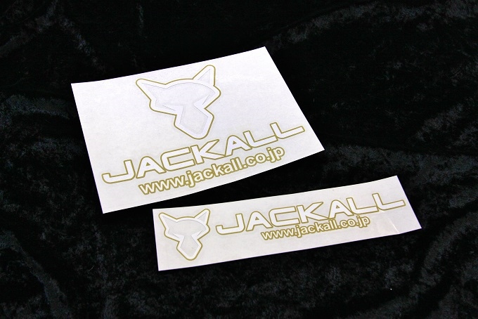 JACKALL CUTTING STICKER / GOLD WHITE