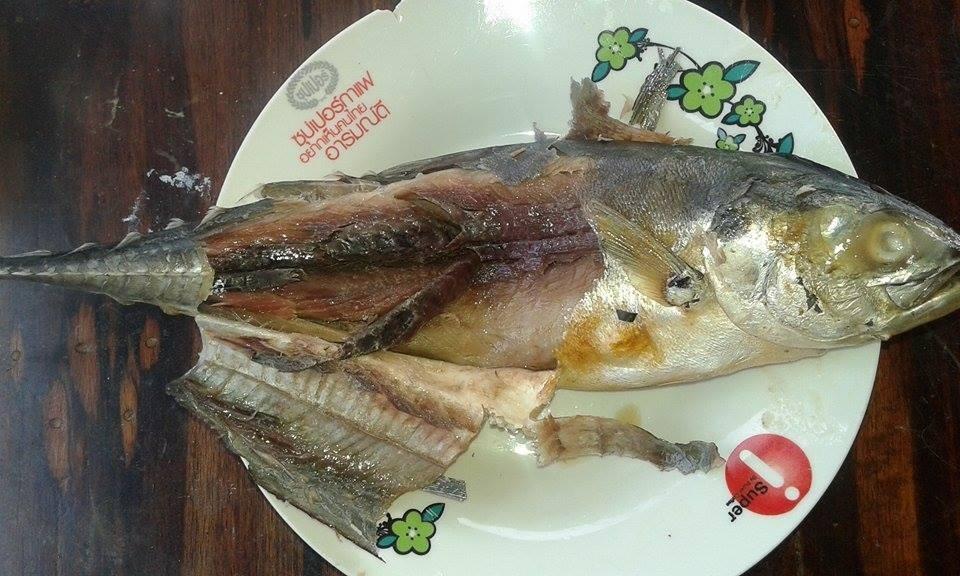 ทำปลาหางแข็งเค็มหอม