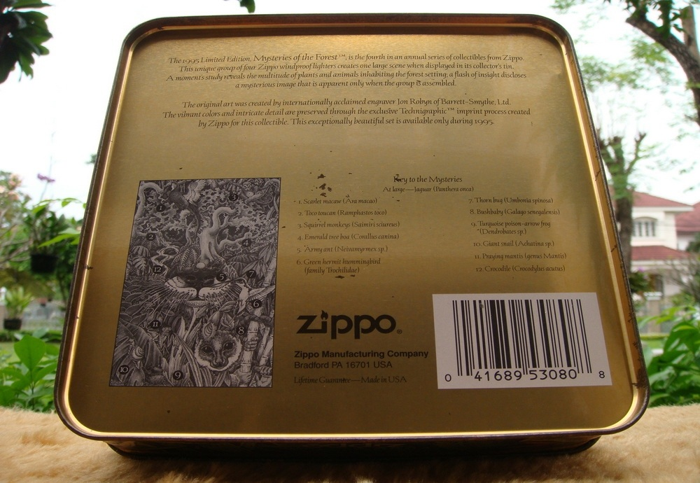 ***  TEEZA  ***  Show  !!  ZIPPO  MYSTERIES  OF  THE  FOREST  LIMITED  EDITION
