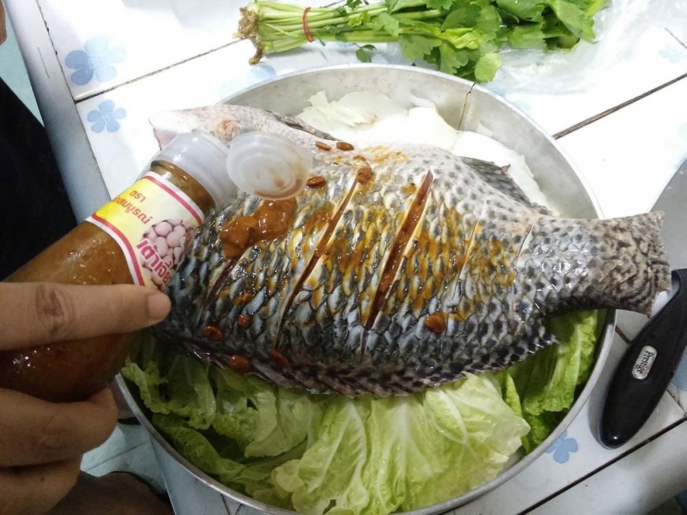 เขาถามได้ปลาเยอะๆเอาไปทำอะไรกิน...กับเมนูปลานิลที่ผมชอบทำและกิน