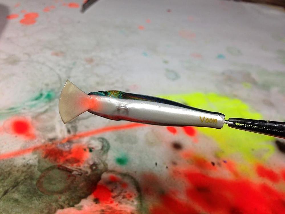 ลองทำสีใหม่ งานไม้โมก 50mm 4.5g