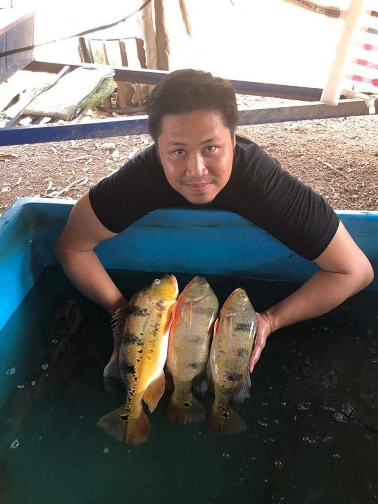 ปลาแบสสามรส...ช่วงสงกรานต์ครับ