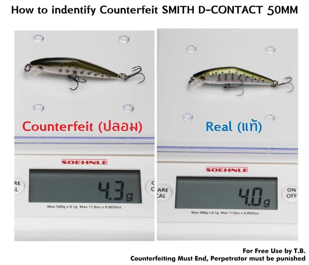 มาดูการเปรียบเทียบ smith d-contact 50s แท้ ปลอม อย่างละเอียดกันคับ
