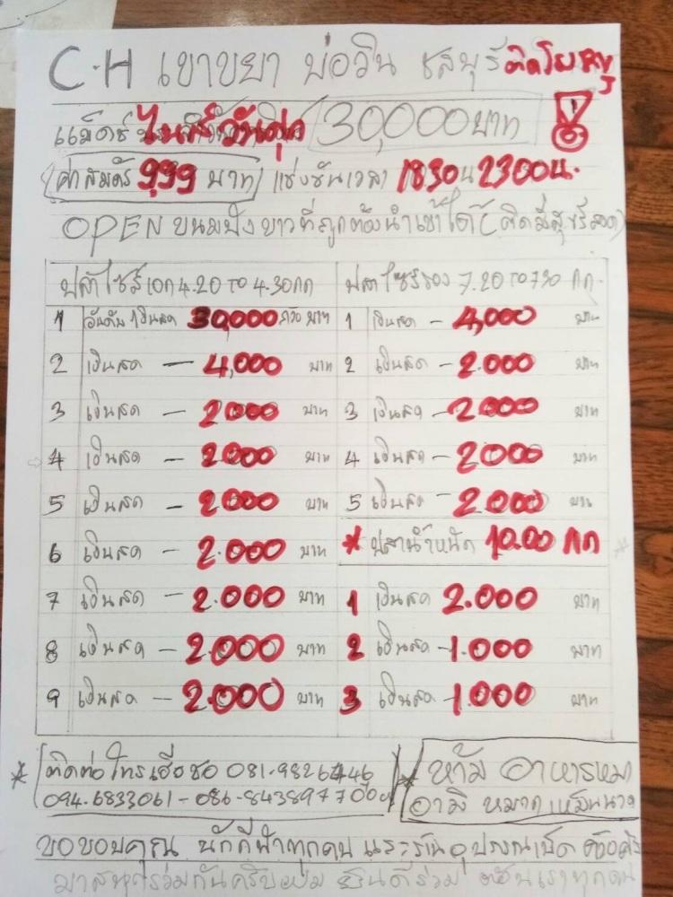 หัว 30000 บาท หาง 2000 บาท ไนท์ศุกร์ที่ 28  กรกฎาคม 2560 รวม **21 ช่อง**
