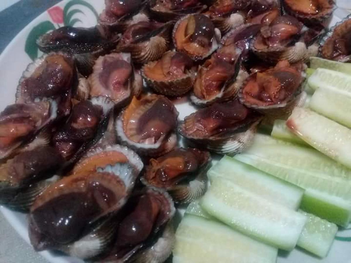 หอยแครงลวกบำรุงเลือดครับ