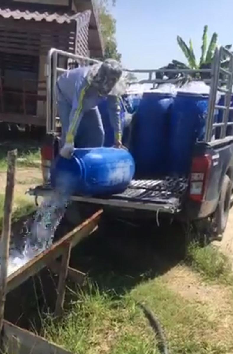 ลงปลาใหม่ 350 โล บ่อตกปลากระพงและสนามกีฬาชนไก่ลาดหลุมแก้ว