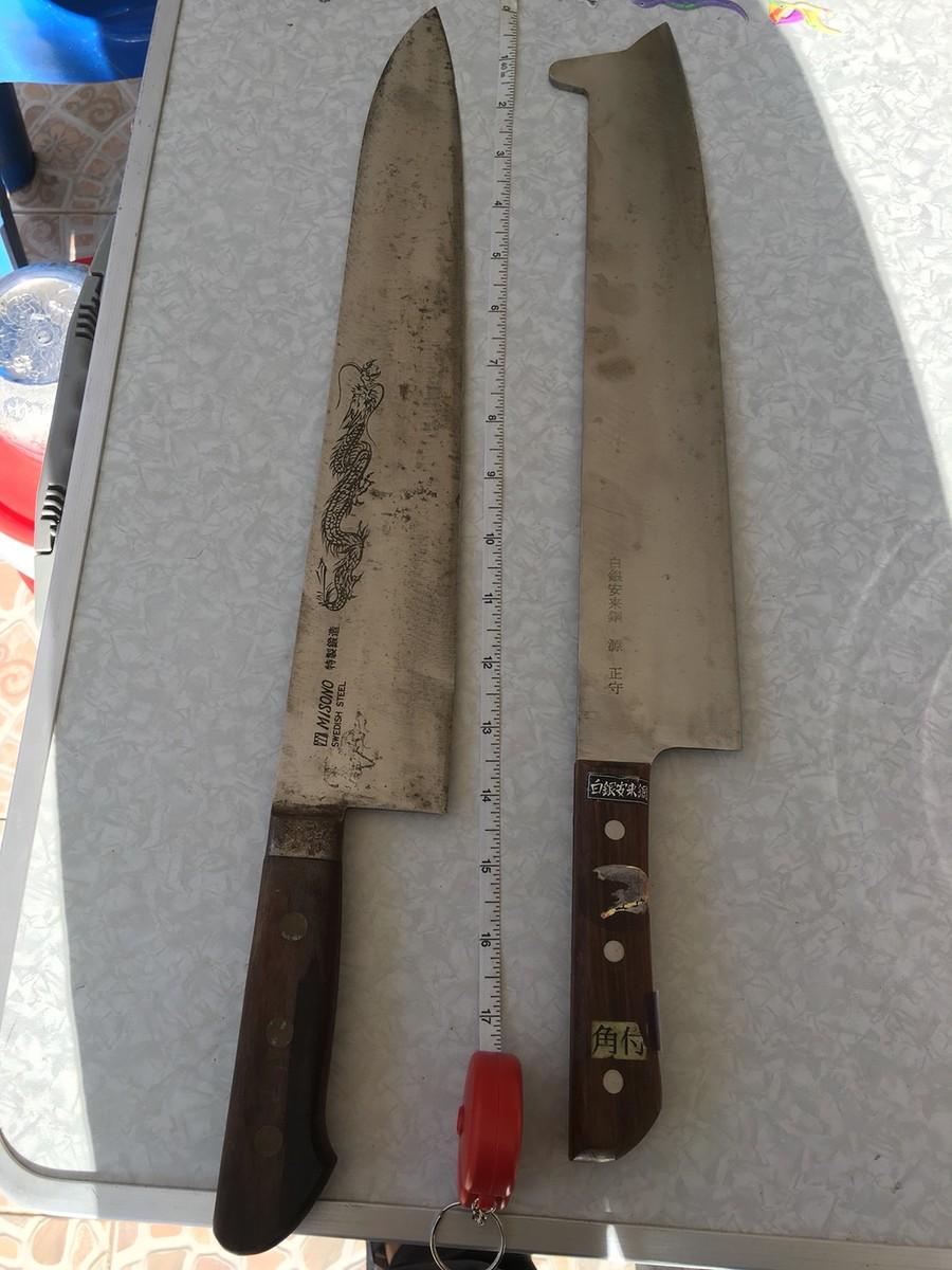 มีมังกร  อยู่บนมีด  มีดมีหงอน
