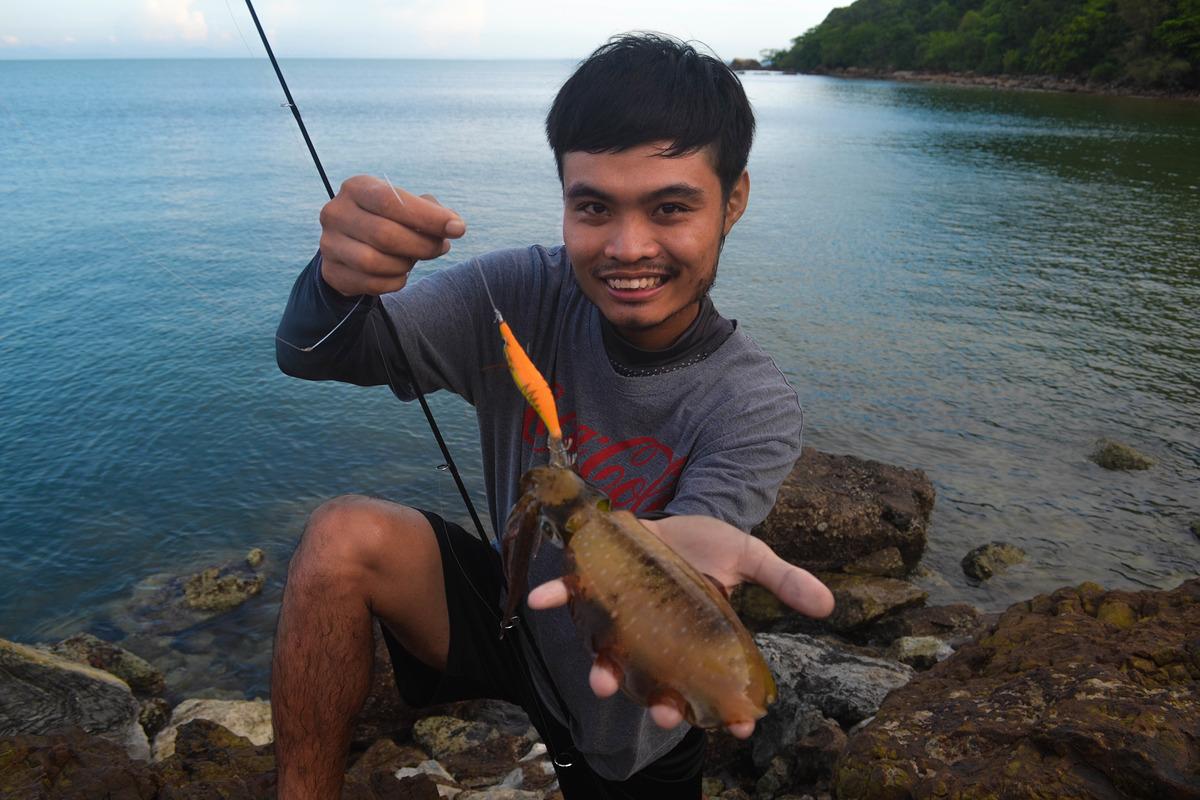 ปลาหมึกชายฝั่งจันทบุรี