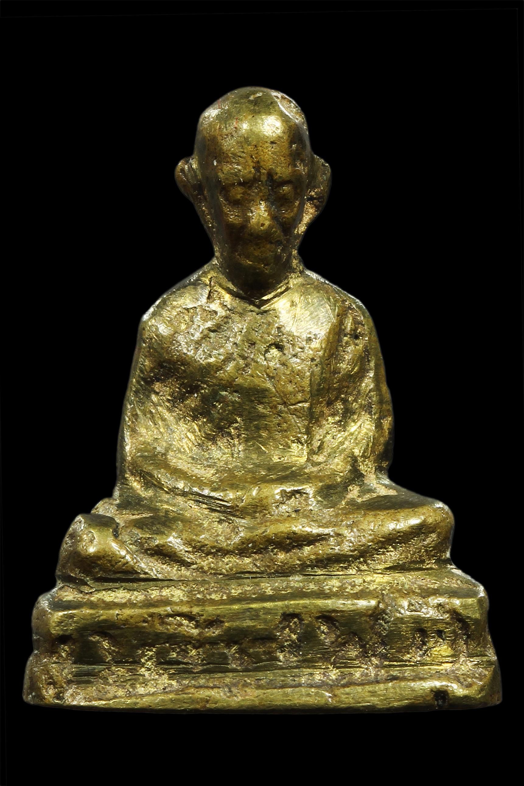 รูปหล่อ หลวงพ่อทบ พิมพ์หัวไม้ขีด ปี 2505