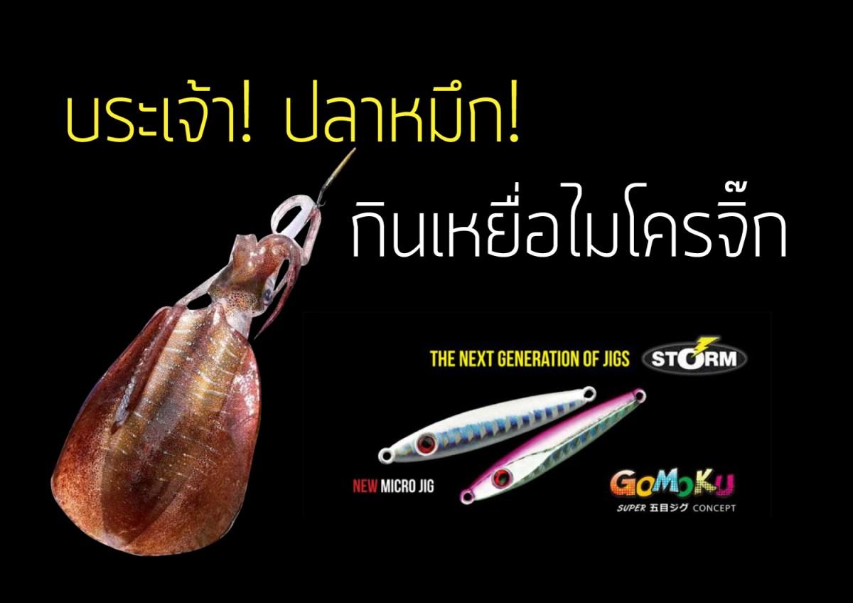 บระเจ้า! ปลาหมึก! กินเหยื่อไหมโครจิ๊ก