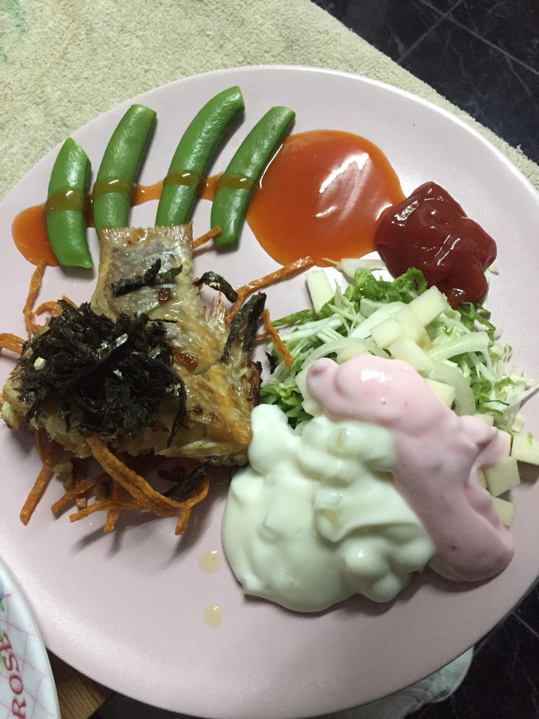 สเต็กปลาทับทิม  (ปลาตลาด)