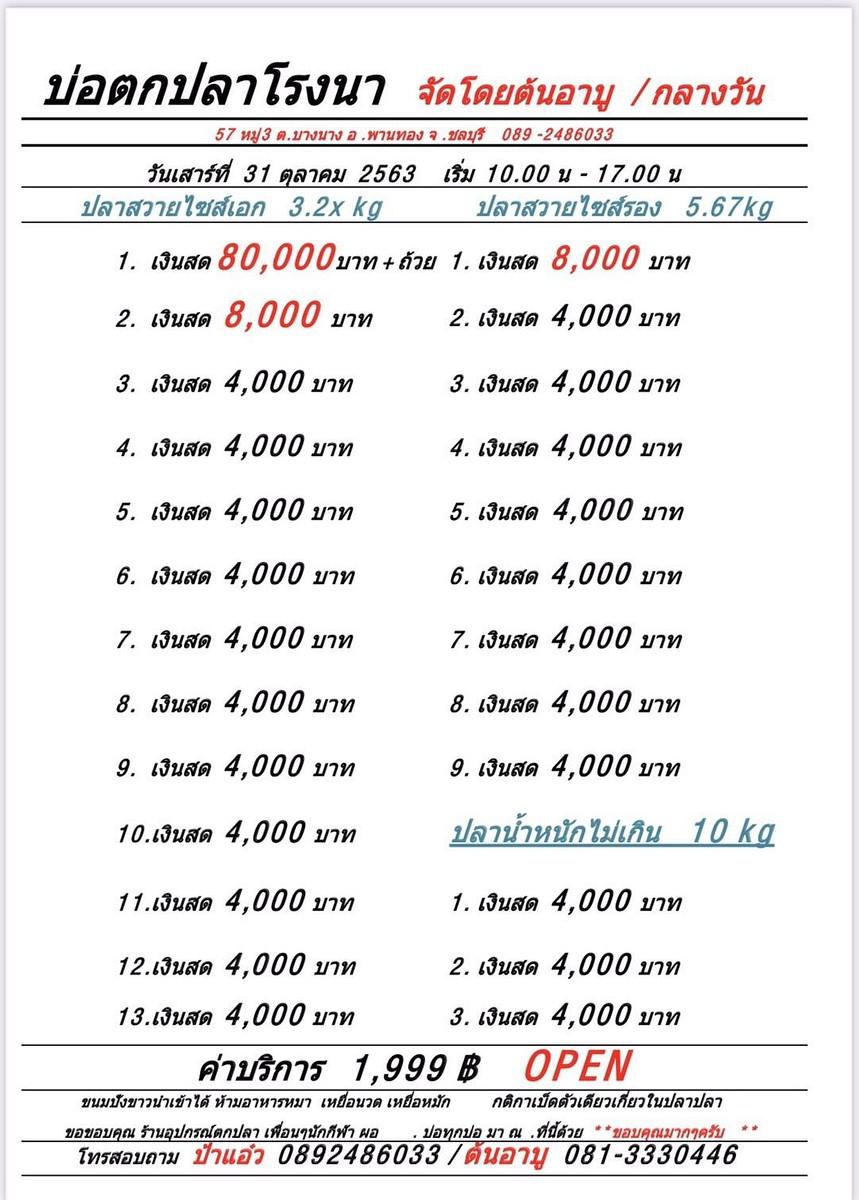 #กลางวัน เสาร์ที่31ตุลาคม2563 โปรแกรม 80,000 ฿ / ลุ้น 25 ช่อง