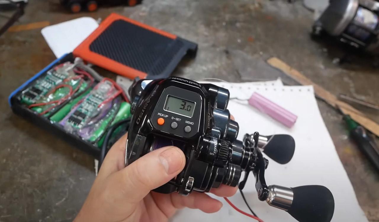 Diy แบต electric reel battery ประหยัดไป6000