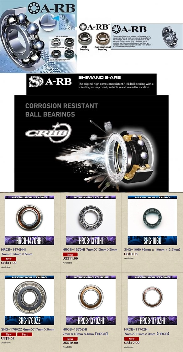 [b]ลูกปืน Shimano  A-RB / S A-RB / RS-ARB / Original Stainless[/b]
