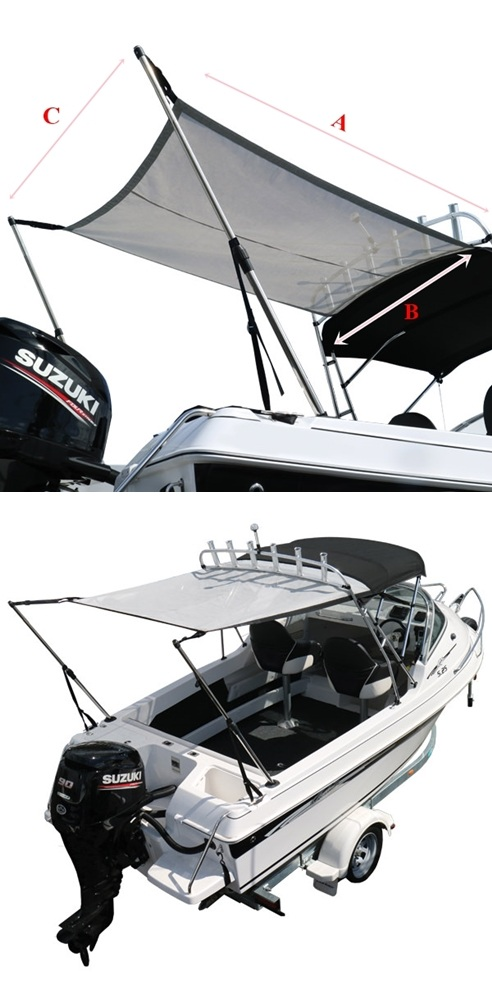 [i] หลังคาผ้าใบแบบต่อเติม  (BIMINI EXTENSION KIT) [/i]