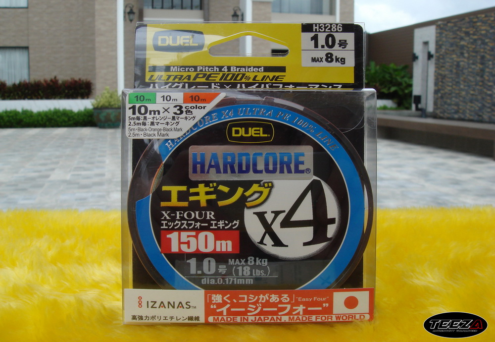 [b][center]5.  DUEL HARDCORE X4 150M 1.0 3 COLOR  ม้วนละ  600  บาท[/b][/center]