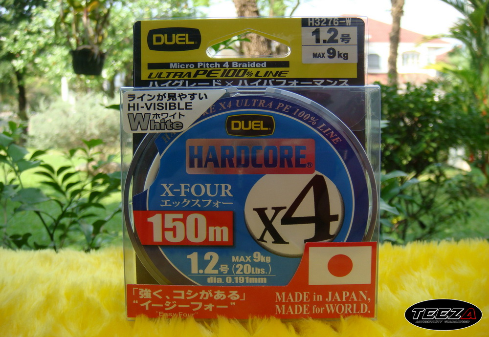 [b][center]14.  DUEL HARDCORE X4 WHITE 1.2  ม้วนละ  550  บาท[/b][/center]